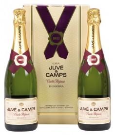 Estuche de cava Juvé y Camps Cinta Púrpura 2 botellas