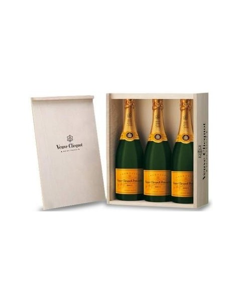 Estuche de champagne Veuve de Clicquot 3 Botellas