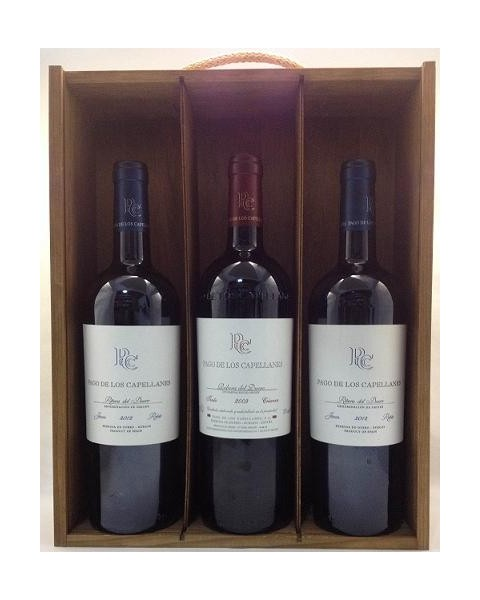 Estuche de vino Pago Capellanes 3 botellas