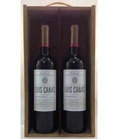 Estuche de vino Luis Cañas Reserva 2 botellas