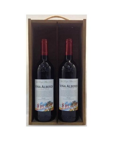 Estuche de vino Viña Alberdi 2 botellas