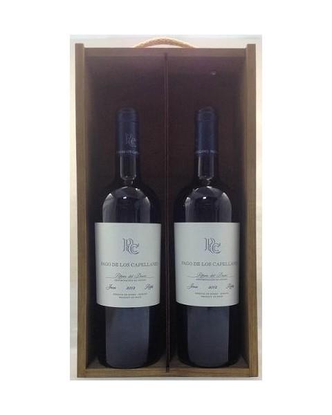 Estuche de vino Pago Capellanes Roble 2 botellas