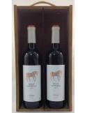 Estuche de vino Vallegarcia Petit Hipperia 2 botellas