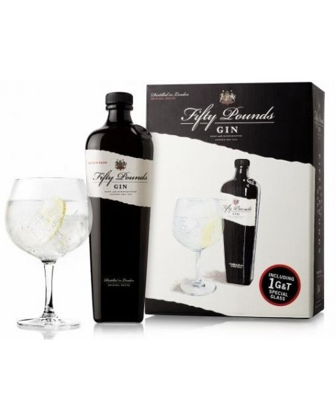 Pack ginebra Fifty Pounds con copa
