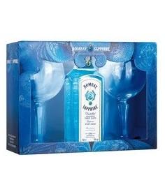 Pack ginebra Bombay Sapphire con copas