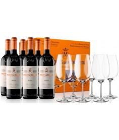 6 botellas Marqués de Murrieta con 6 copas zwiesel