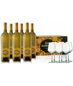 6 botellas Pazo Barrantes con 6 copas zwiesel