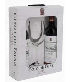 Estuche de vino Coto de Imaz Reserva + 1 copa