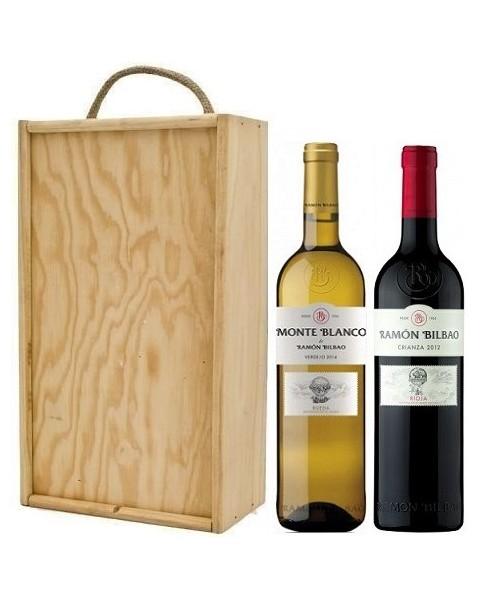 Estuche de vino Monte Blanco + Ramón Bilbao Crianza