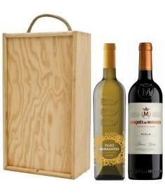 Estuche de vino Pazo Barrantes + Marqués de Murrieta Reserva