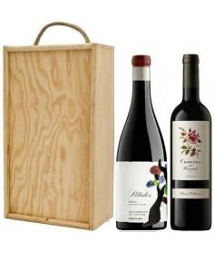 Estuche de vino Pétalos del Bierzo + Camins del Priorat