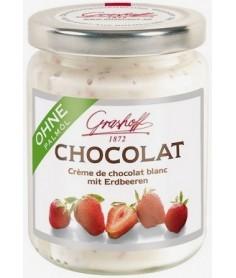Crema de Chocolate Blanco y Fresas Grashoff