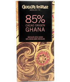 Tableta Chocolate Cacao 85% Ghana