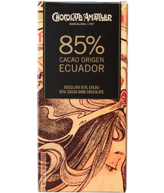Tableta Chocolate Cacao 85% Ecuador