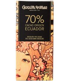 Tableta Chocolate Cacao 70% Ecuador