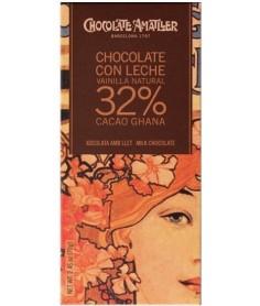 Tableta Chocolate con Leche Vainilla Cacao 32% Ghana