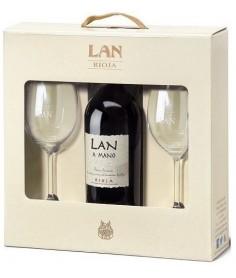 Estuche de vino Lan Edición Limitada con 2 copas