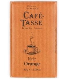 Chocolate Café Tasse Negro Naranja