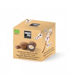 Bombón chocolate con leche de almendra marcona