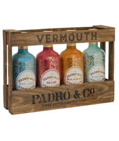 Estuche Madera Vermouth Padró Colección 4 Botellas