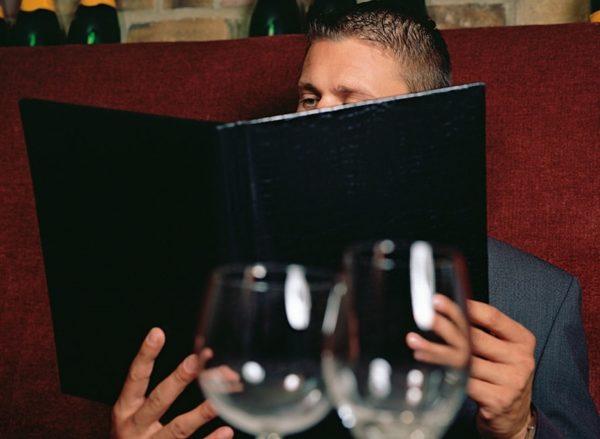 carta de vinos bar